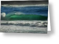 Emerald Sea Greeting Card by Donna Blackhall