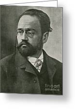 Emile Zola, French Author Greeting Card by Photo Researchers