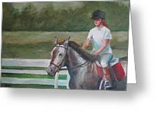 Emma Riding Greeting Card by Julie Dalton Gourgues