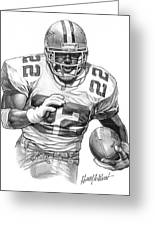 Emmitt Smith Greeting Card by Harry West