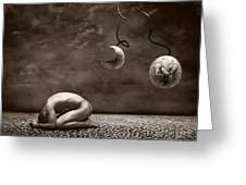 Emptiness Greeting Card by Jacky Gerritsen
