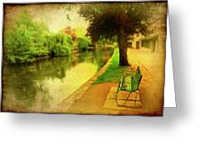 Empty Bench Greeting Card by Svetlana Sewell
