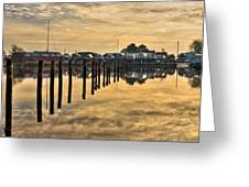 Empty Marina Greeting Card by Gert Lavsen