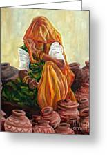 'empty Pots...invisible Thoughts' Greeting Card by Murali