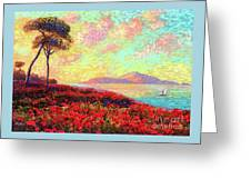 Enchanted By Poppies Greeting Card by Jane Small