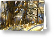 End Of A Winter's Day Greeting Card by Bob Salo