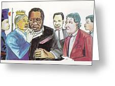 England Queen With Ajayi Crowther Greeting Card by Emmanuel Baliyanga