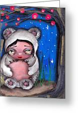 Enjoying The Night Greeting Card by Abril Andrade Griffith