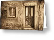 Eos Cottage Greeting Card by Yanni Theodorou