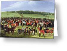 Epsom Races - The Betting Post Greeting Card by James Pollard