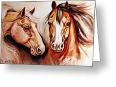 Equine Power By M Baldwin A Spirit Horse Original Greeting Card by Marcia Baldwin