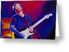 Eric Clapton - Crossroads Greeting Card by David Lloyd Glover