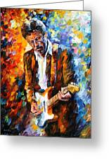 Eric Clapton Greeting Card by Leonid Afremov