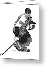Eric Lindros Greeting Card by Harry West