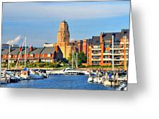 Erie Basin Marina Greeting Card by Kathleen Struckle