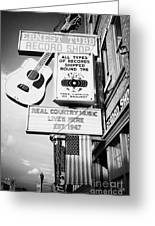 ernest tubbs record shop on broadway downtown Nashville Tennessee USA Greeting Card by Joe Fox