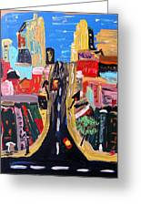 Escape To The City Greeting Card by Mary Carol Williams