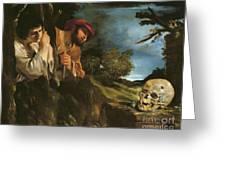 Et In Arcadia Ego Greeting Card by Giovanni Francesco Barbieri