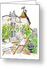 European Chateau Lounge Chair Greeting Card by Tilly Strauss