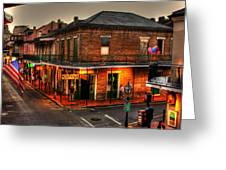 Evening On Bourbon Greeting Card by Greg and Chrystal Mimbs