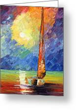 Evening Sail Greeting Card by Ash Hussein