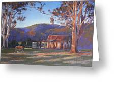 Evening Tapestry Dyers Crossing Greeting Card by Louise Green