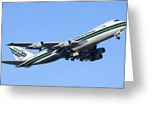 Evergreen International Boeing 747-212b N482ev Phoenix Sky Harbor Arizona December 23 2011 Greeting Card by Brian Lockett