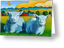 Ewe Two Greeting Card by Stacey Neumiller