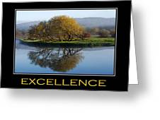 Excellence Inspirational Motivational Poster Art Greeting Card by Christina Rollo