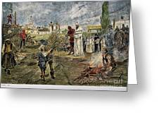 EXECUTION OF JAN HUS, 1415 Greeting Card by Granger