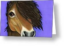 Exmoor Pony  Greeting Card by Leanne Wilkes