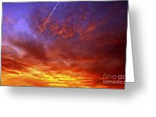 exploded sky Greeting Card by Michal Boubin