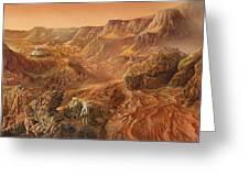 Exploring Mars Nanedi Valles Greeting Card by Don Dixon