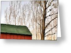 Expressionism Reflected Greeting Card by Steven Milner