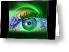 Eye For Pool Greeting Card by Draw Shots
