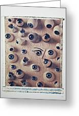 Eyes On Braille Page Greeting Card by Garry Gay