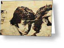 Fab Four Greeting Card by Michael Garbe
