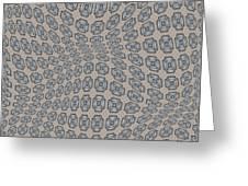 Fabric Design 12 Greeting Card by Karen Musick