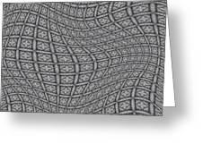 Fabric Design 19 Greeting Card by Karen Musick