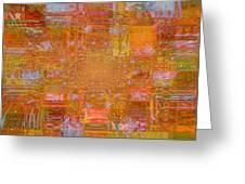 Fabric Two Greeting Card by Fania Simon