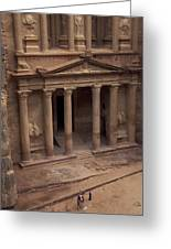 Facade Of The Treasury In Petra, Jordan Greeting Card by Richard Nowitz