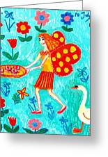 Fairy Cakes Greeting Card by Sushila Burgess