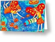 Fairy Liquid Greeting Card by Sushila Burgess