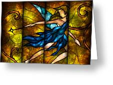 Fairy Tetraptych Greeting Card by Mandie Manzano