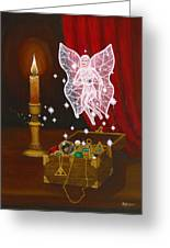 Fairy Treasure Greeting Card by Roz Eve
