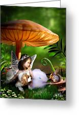 Fairy Woodland Greeting Card by Julie L Hoddinott