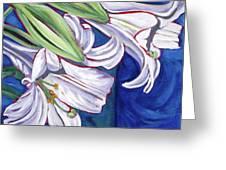 Faith Lily Two Greeting Card by Dawn Thrasher
