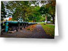 Fall At West Point Greeting Card by David Hahn