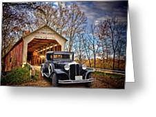 Fall Country Drive Greeting Card by Bill Dutting