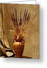 Fall In A Vase Still-life Greeting Card by Christine Till